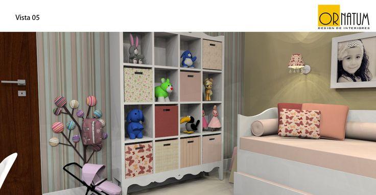 Quarto menina 3 anos. (Cama, guarda roupas e comoda já existentes no cômodo.)