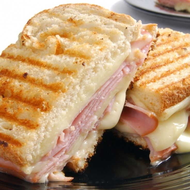 A Delicious recipe for the perfect ham and Swiss cheese panini. Great served with a bowl of soup.
