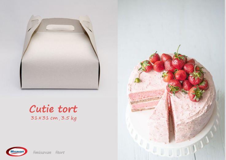 Cutie din carton Misavan pentru transportarea si depozitarea produselor de patiserie: http://www.produse-horeca.ro/industria-alimentara/panificatie/cutie-tort-3500gr-25buc #tort #patiserie #misavan