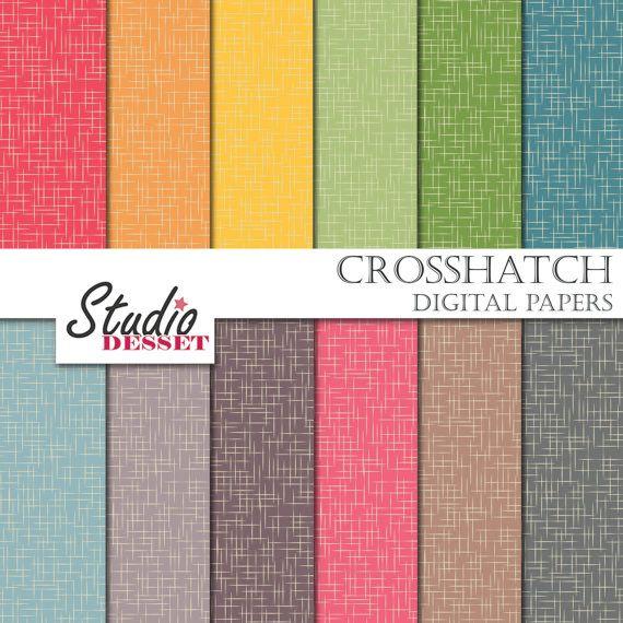 Digital Paper Crosshatch Cross Hatch Line Textures by StudioDesset, $3.60