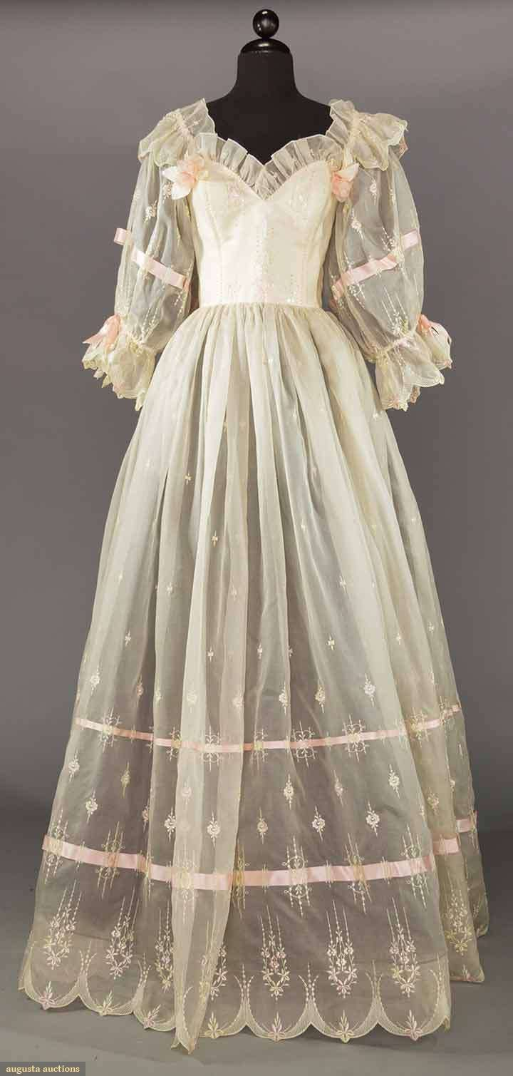 EMMANUELLE WEDDING DRESS, EARLY 1980s