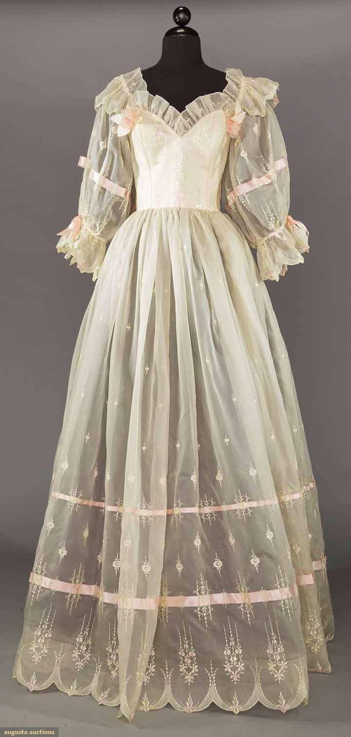 EMMANUELLE WEDDING DRESS, EARLY 1980s