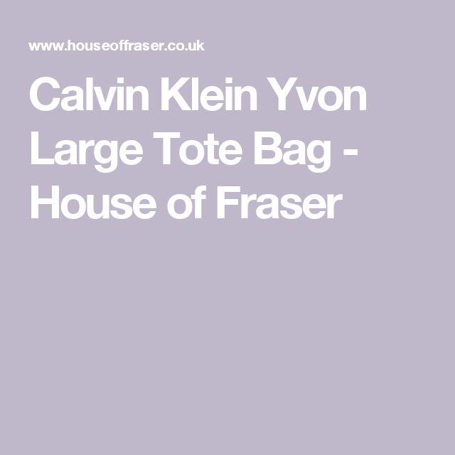 Calvin Klein Yvon Large Tote Bag - House of Fraser