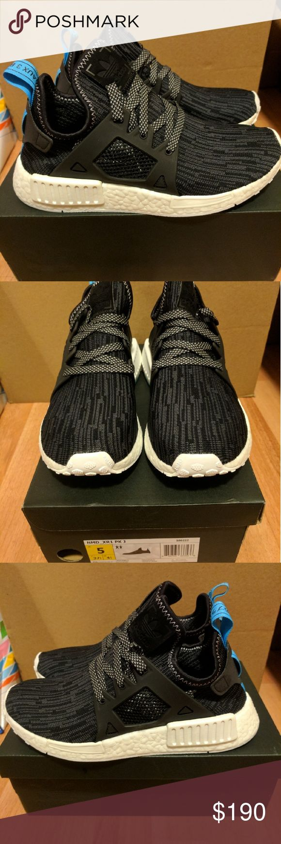 NEW ADIDAS NMD XR1 PRIME KNIT UTILITY BLACK SZ 6.5 Newest colorway for adidas NMD, sold out everywhere!  Junior size 5 Women size 6.5  Deadstock.  100% authentic.  Will be shipped with original box and protection box.  No trades.  Price is firm.  No returns for incorrect size, size is as described in description  Check out my account for more shoes and sizes!  Tags:Adidas, Jordan, Nike, retro, boost, Yeezy, ultra boost, prime knit, supreme, make up, contacts Adidas Shoes