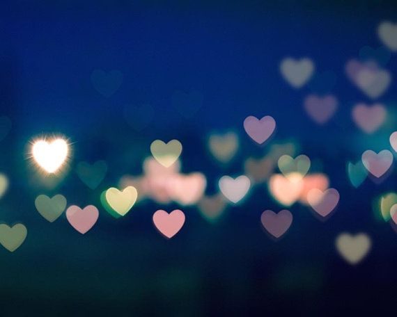 abstract heart photography bokeh 8x10 8x12 fine by mylittlepixels