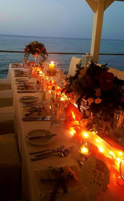 #Wedding #dinner #centerpieces #candles