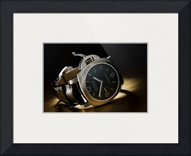 """Officine Panerai PAM"" by Martin Wilmsen, Amsterdam // Panerai 312 wrist watch on gold colored backdrop // Imagekind.com -- Buy stunning fine art prints, framed prints and canvas prints directly from independent working artists and photographers. Consider visiting Cada Cegundo's gallery on Imagekind at http://www.imagekind.com/artists/cadacegundo/all/fine-art-prints for some clock/time related images."