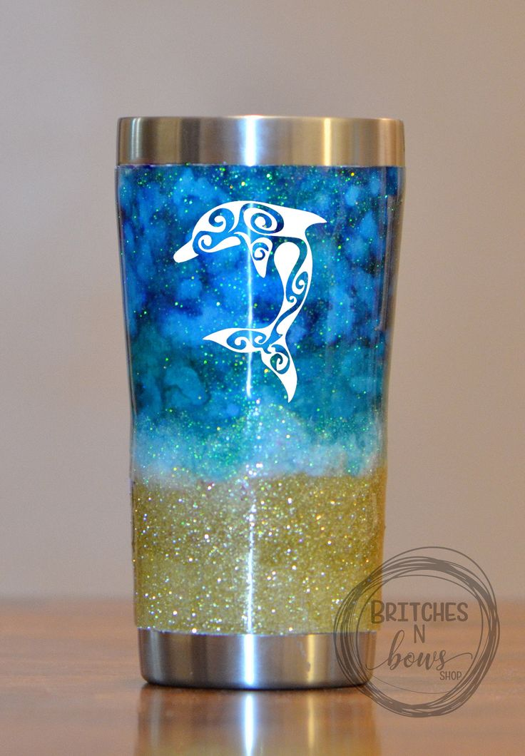 Seabreeze Ink/Glitter Ozark Trail Tumbler with Silver Trim 20oz, 30oz, or 40oz // Personalized Cups, Custom Tumblers, Ozark Trail Tumbler by BritchesNBowsShop on Etsy https://www.etsy.com/listing/540022673/seabreeze-inkglitter-ozark-trail-tumbler