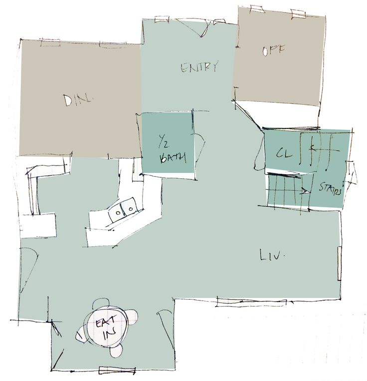 Covington Blue Hc 138 Benjamin Moore: Paint Plan 1 Palladian Blue (entry, Living Room, Kitchen