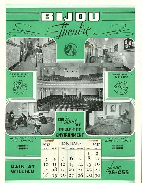 Historical Winnipeg - Bijou Theatre Poster 1937