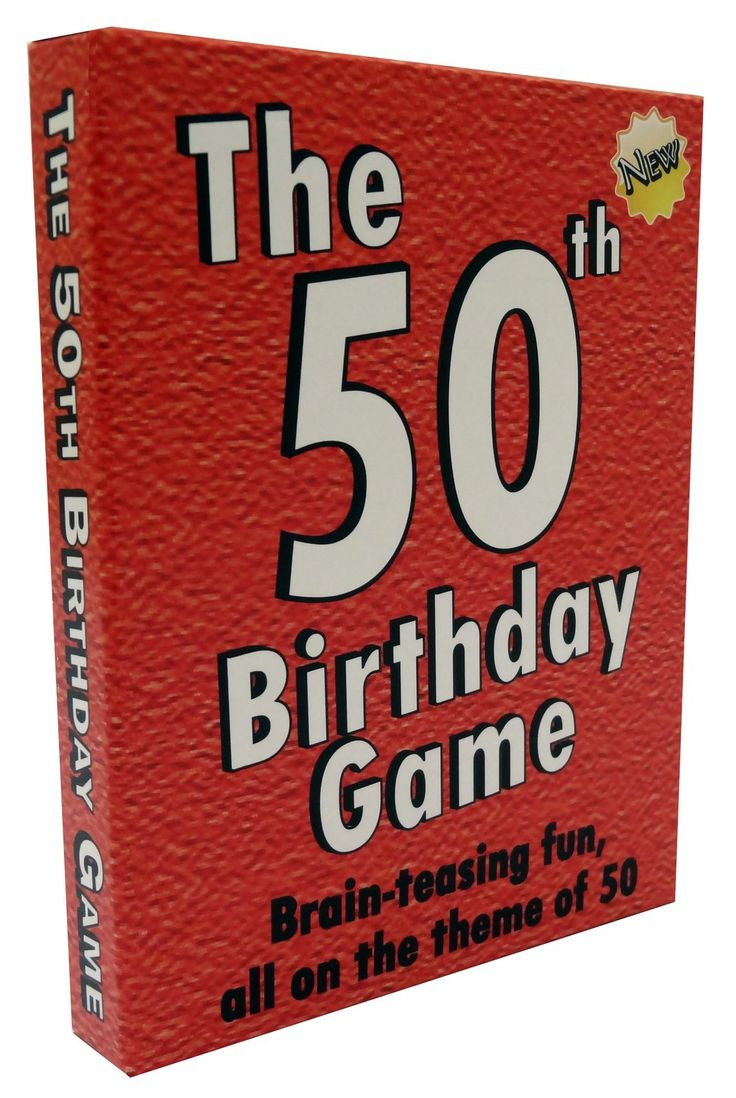 Amazon.com: The 50th Birthday Game. Fun 50th birthday party idea, also a uniquely fun 50th birthday gift for men and for women.: Toys & Games