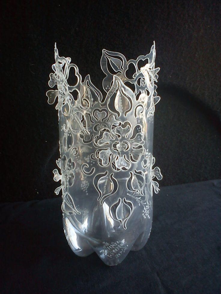 835 best images about plastique r cup plastic diy - Botellas de plastico decoradas ...