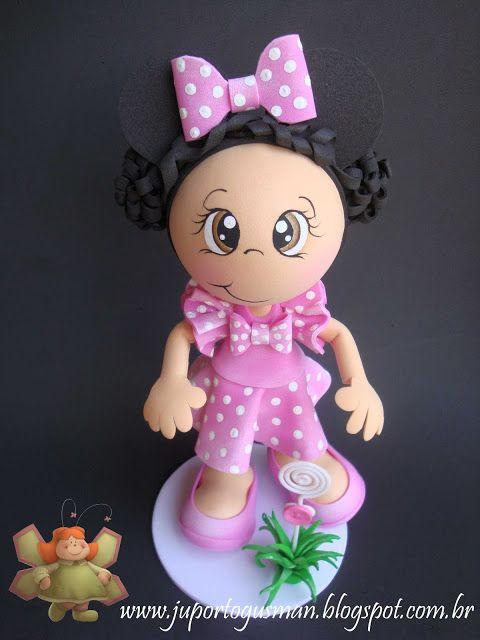 Bonequinha personalizada da Hellen de Minnie
