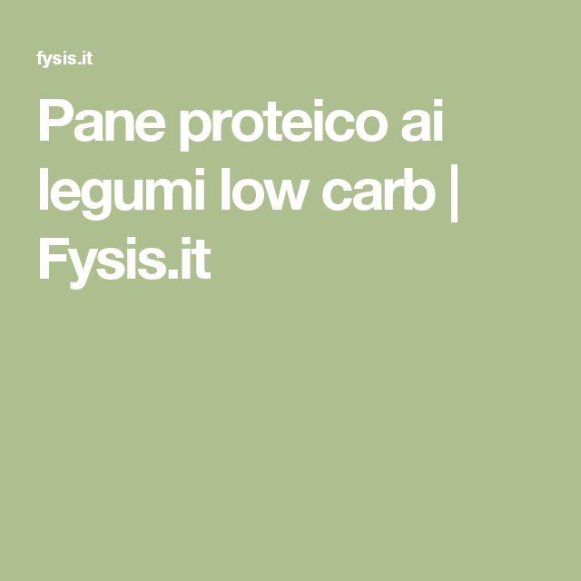 Pane proteico ai legumi low carb | Fysis.it