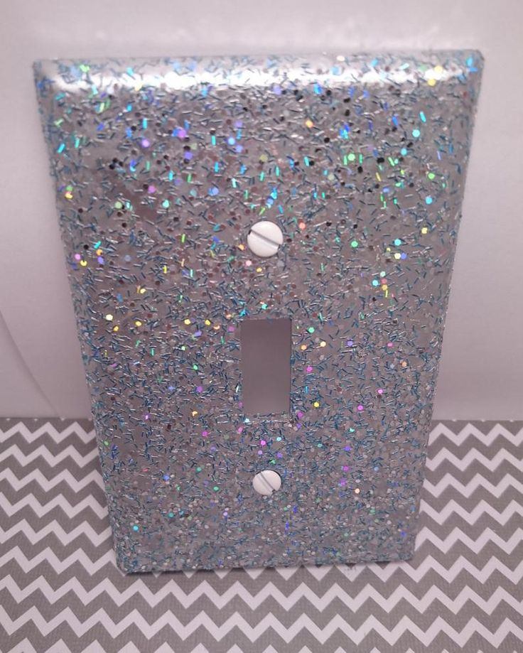 The Glittery World Of Silver Bedroom Ideas: Metallic Silver W/ Holographic Silver Opal & Blue Glitter