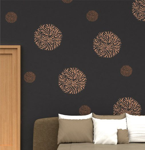 23 best Damask Wall Painting Stencils images on Pinterest Wall