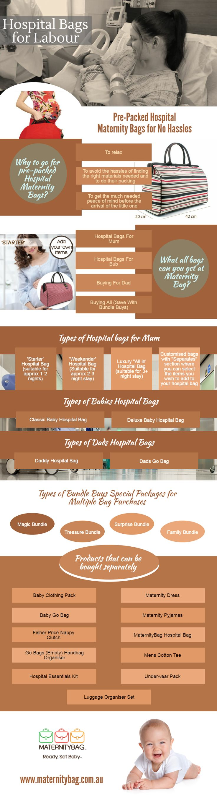 Pre-Packed Hospital Maternity Bags for No Hassles -  Why to go for #pre-#packed #Hospital #Maternity #Bags? To relax and avoid the hassles of finding the right materials needed and to do their packing, to get the much needed peace of mind before the arrival of the little one. For more detail, look on this infographic image.