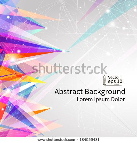 Abstract background, bright vector