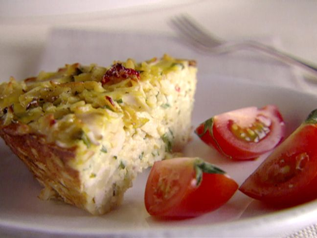 Chicken and Orzo Frittata via Giada De Laurentiis--thinking some lemon zest would be a good addition