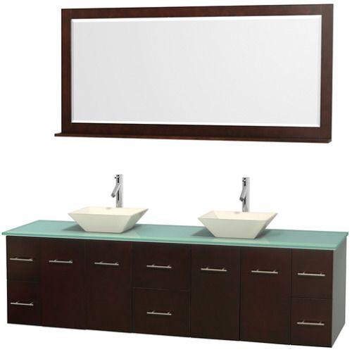 Wyndham Collection Centra 80-inch Double Bathroom Vanity in Espresso