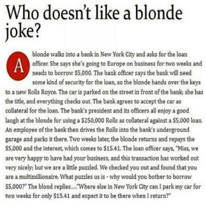 Essays about dumb blondes