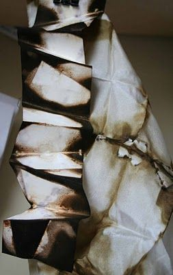 Silk dyed with onion skins - folds | alice fox