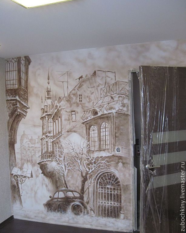 Купить Интерьерная роспись - интерьер, роспись стен, декор интерьера, интерьерная роспись, аэрография