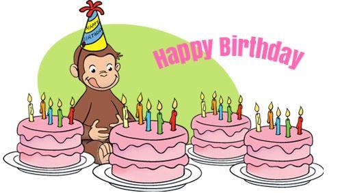 Marvelous 12 Best Curious George Birthday Cards Images On Pinterest Personalised Birthday Cards Veneteletsinfo