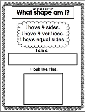 freebie 2d shape riddle school pinterest shape 2d and riddles. Black Bedroom Furniture Sets. Home Design Ideas