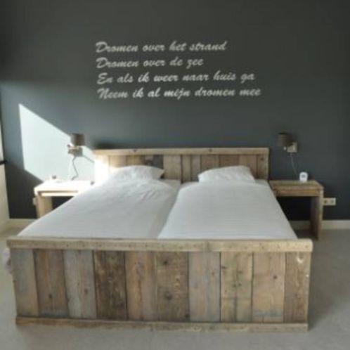 Tweepersoons bed STEIGERHOUT / bed / kast / sloophout /plank