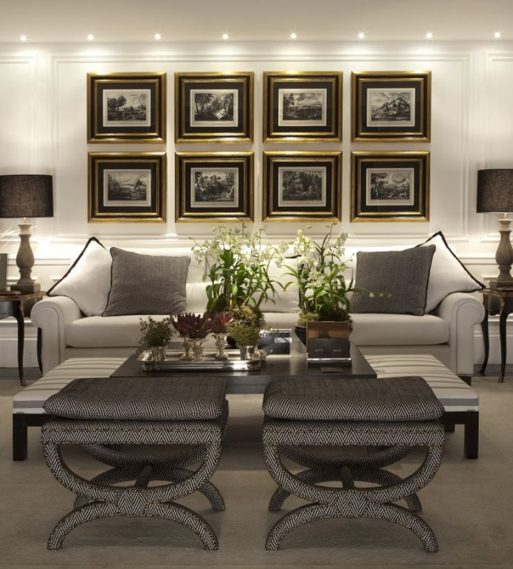 quadros mais clássicos sobre o sofá.