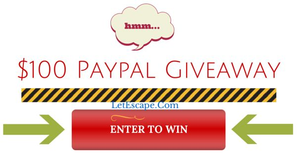 $100 Paypal Cash Giveaway. Please enter to win.