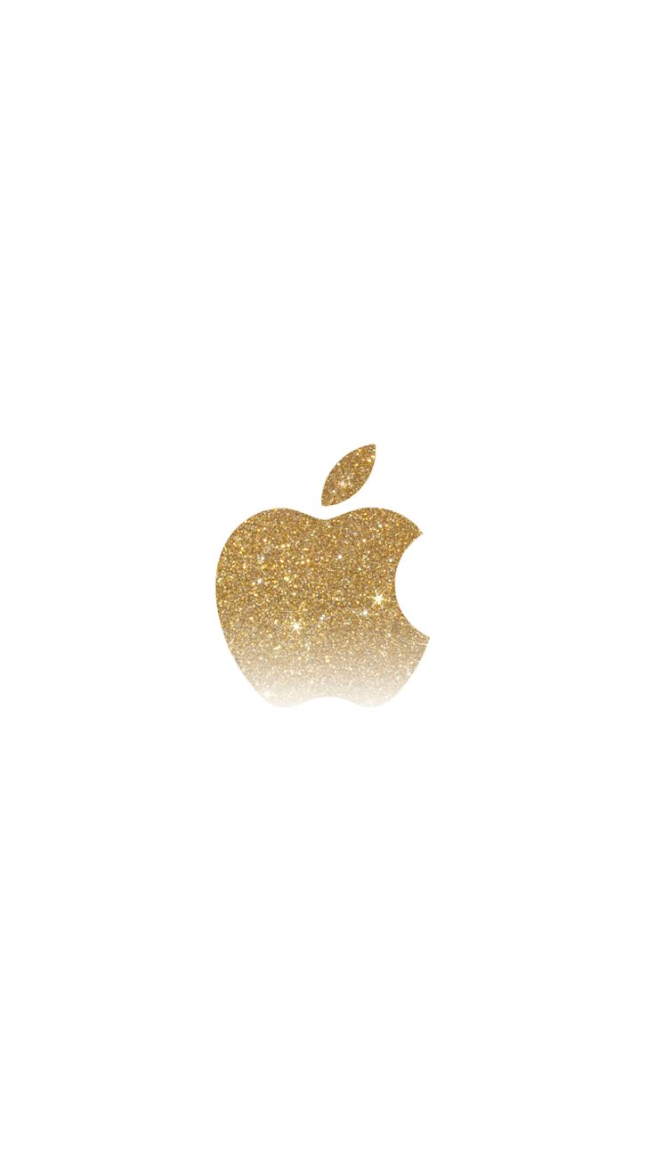 gold gradient glitter apple logo iPhone 6 wallpaper | click for more iPhone…