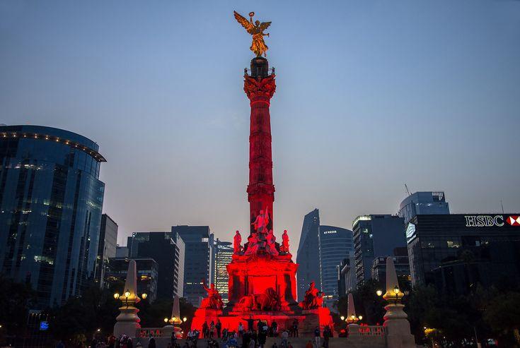 The Angel of Independence Monument (El Ángel), Paseo de la Reforma, Mexico City