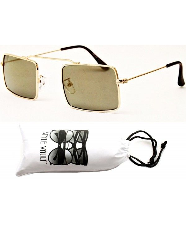 447d0dad9d218 V3031-vp Unique Metal Rectangular Sunglasses - B135 Gold-brown ...