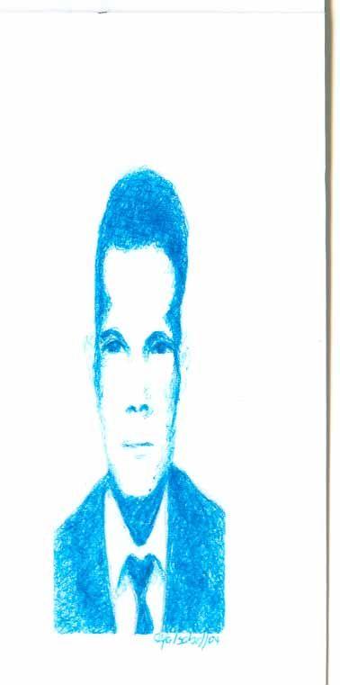 De la serie rostros. Esfero sobre papel