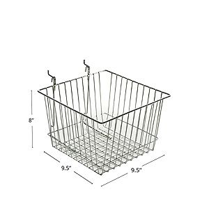 """9.5x9.5"""" Wire Basket that clips into Peg Board $9.00"""