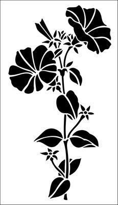 stencil di fiori dallo stencil biblioteca. Catalogo Stencil la descrizione breve pagina 9.