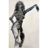 """""""Caitlin 1"""" William Stoehr - Artist Original Acrylic Painting on Canvas A nude with attitude 48"""" x 36""""  $6,500.00 - See more at: http://gallerystthomas.com/art-medium/acrylic-paintings/caitlin-1.html#sthash.HxT5EiVT.dpuf"""