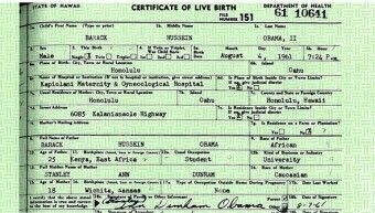 Dems want GOP candidate's birth certificate How about showing Obama's REAL birth certificate?