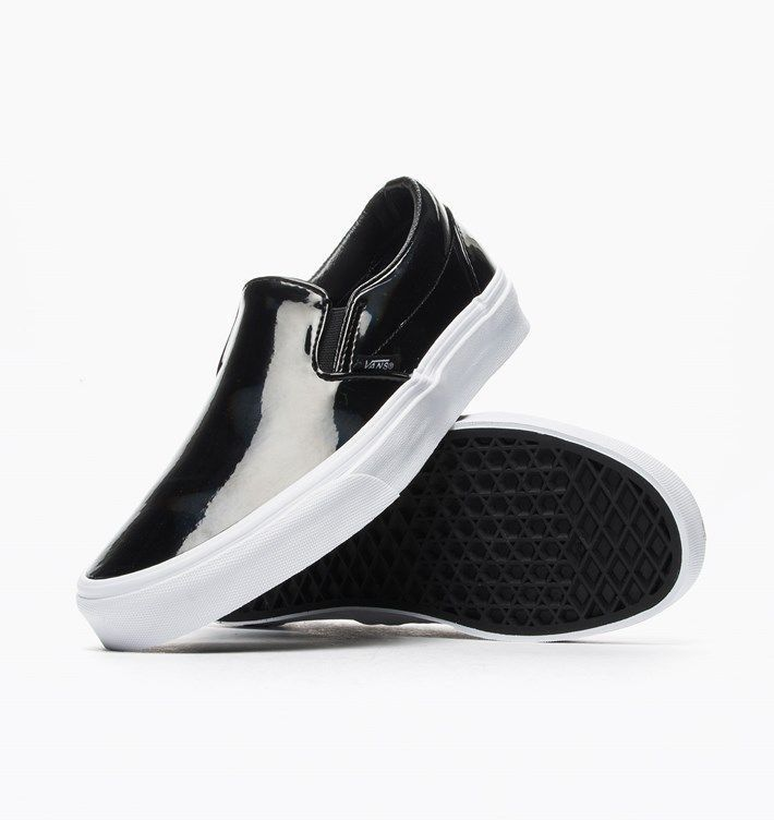 641f9e3325d1d1 Vans Classic Slip-On Patent Leather Black Women S Shoes Sneakers Vxg8Lcv   KeenShoesForWomen