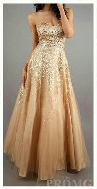 Gold Prom Dress (Size S)