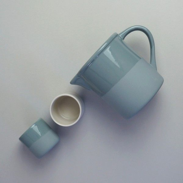 The Canteen collection pitcher and cups by Jars of France from North London shop Future and Found