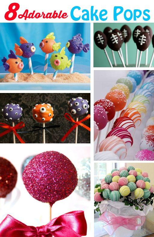 8 Adorable Cake Pops- These are so cute!