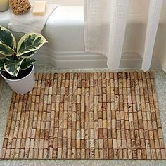 Easy Christmas Crafts - Fun Bath Mat - Click Pic for 22 Fun Wine Cork Projects