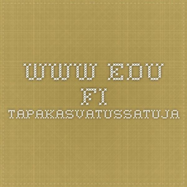 www.edu.fi tapakasvatussatuja