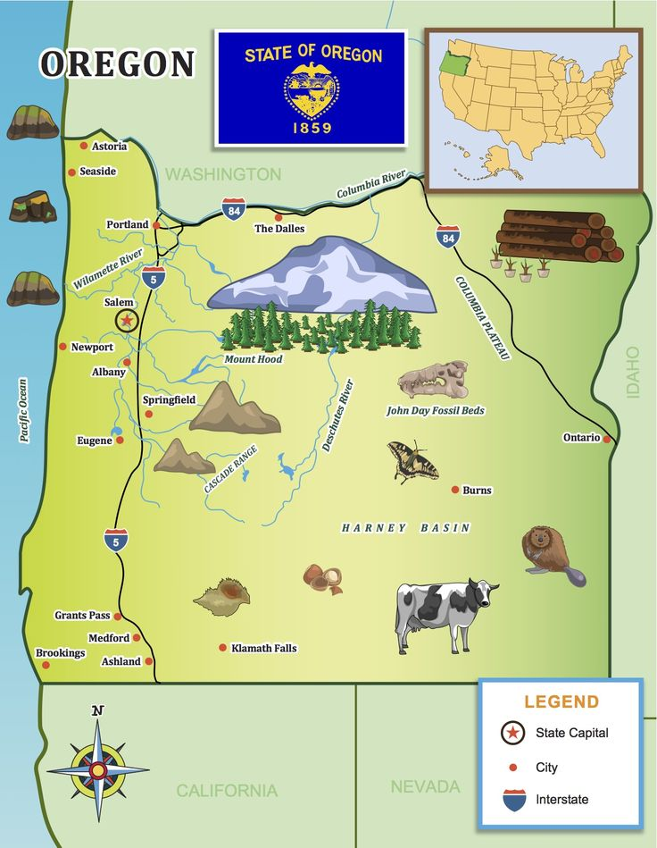 Best Roadtrips Images On Pinterest States United States - Columbia river on us map