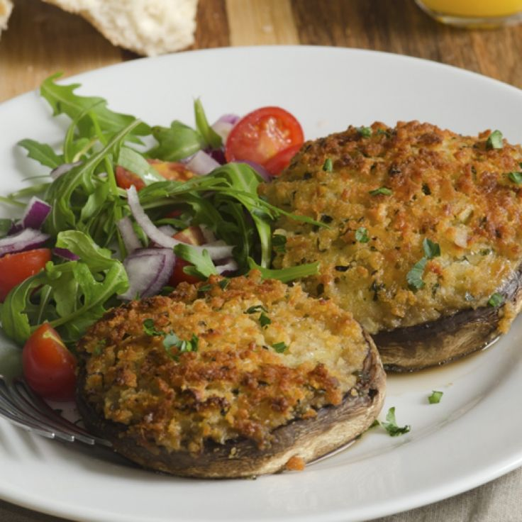 This delicious grilled portabella mushroom recipe is loaded with all the goodies like garlic, bacon, and cheese.