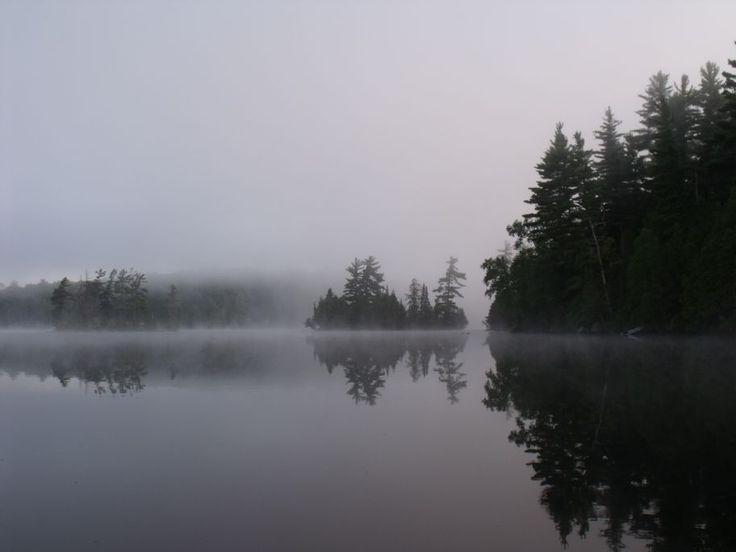 Early morning mist on Big Straggle Lake