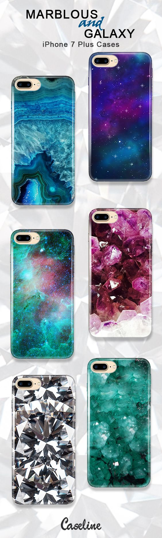 caseline galaxy case cover apple iphone 7 plus marblous marble phonecases lineofcases beautiful sky blue stars space